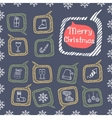 Christmas set icons Doodle vector image vector image
