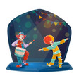 circus clown characters funny jesters vector image vector image