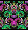 colorful greek style paisley seamless pattern vector image vector image