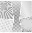 comic book page monochrome design background vector image vector image