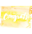 Congratulations Abstract background Watercolor vector image vector image