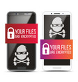 cracking smartphone with pirate malware set vector image