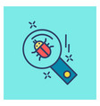 cyber security creative colored icon with blue vector image vector image