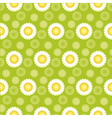 daisy green seamless pattern vector image