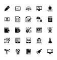 elearning glyph icons vector image