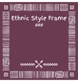 Ethnic Style Frame vector image