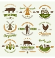 farm products retro style emblems vector image vector image