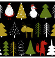 funny christmas holiday seamless pattern vector image vector image