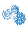 gears working teamwork machinery pin wheel icon vector image vector image