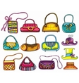 handbag purses and hats vector image