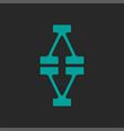 initials va or av logo monogram design typography vector image vector image