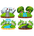 isolated landscape island on white background vector image vector image