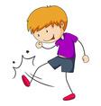 Kicking vector image