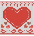 knitted heart vector image vector image