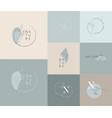 logo design template in trendy linear minimal vector image vector image