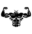 male athletic black body silhouette vector image vector image