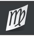 Monochrome Virgo sticker vector image vector image
