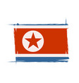 north korea grunge flag with little scratches vector image