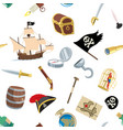 pirate accessories pattern vector image