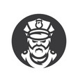policeman silhouette sign vector image vector image