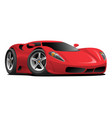 red hot european style sports-car cartoon vector image vector image