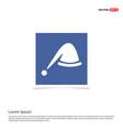 santa hat icon - blue photo frame vector image vector image