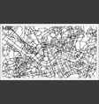seoul korea city map in black and white color vector image vector image