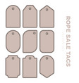 set blank gift tag labels for sale prices with vector image