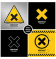 set harmful irritant chemical hazard symbols vector image vector image