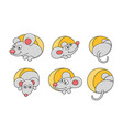 set mouses vector image vector image