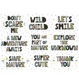 set of phrases in scandinavian style vector image