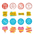 Set of special offer sale tags Discount retail vector image vector image