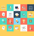 set science and technology flat icons vector image vector image
