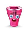 sharpener cartoon character happy smilling vector image vector image