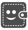 smiled wallet flat icon vector image
