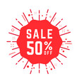 special offer sale 50 percent off red tag vector image vector image