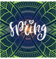 spring handwritting typography icon modern vector image
