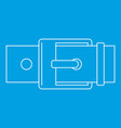 square buckle icon outline style vector image vector image