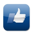 Thumbs up icon - like button vector image vector image