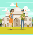 travel in india flat background vector image vector image