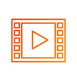 video player button app internet media vector image vector image