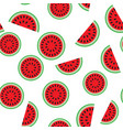 water melon seamless pattern vector image vector image