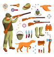 set of hunting vector image