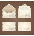 Letter Mail Vintage Set vector image
