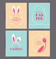 four easter greeting cards vector image