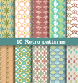 10 retro pattern vector image
