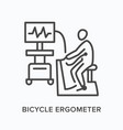 bicycle ergometer flat line icon outline vector image