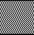 black and white chevron horizontal pattern vector image
