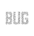 black simple bug text vector image