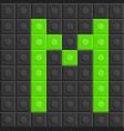 blocks in english capital letter m alphabet set vector image
